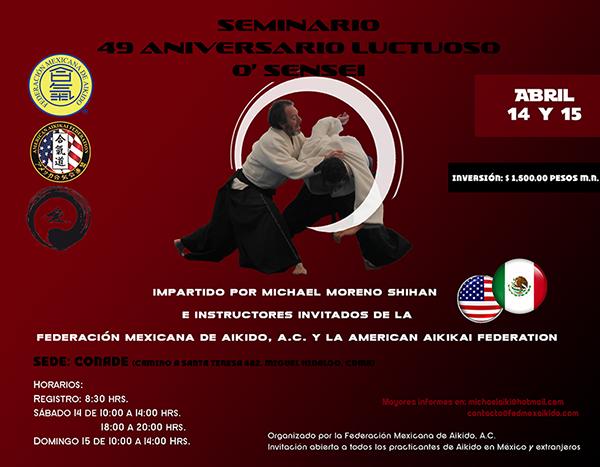 Seminario Por El Aniversario Luctuoso De O Sensei 2018 Federación